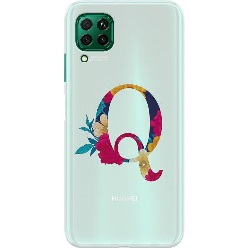 Huawei P40 Lite Thin Case Bokstaven - Q