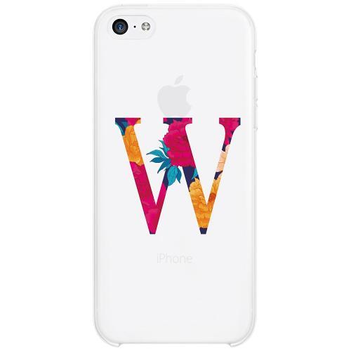 Apple iPhone 5c Firm Case Bokstaven - W