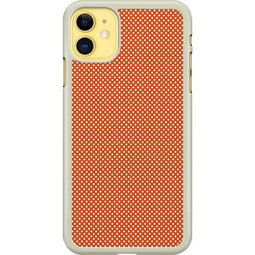 Apple iPhone 11 Hard Case (Transparent) Orange Droplets