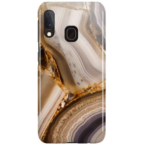 Samsung Galaxy A20e LUX Mobilskal (Glansig) Amber Agate