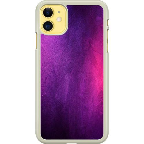 Apple iPhone 11 Hard Case (Transparent) Purple and Profound