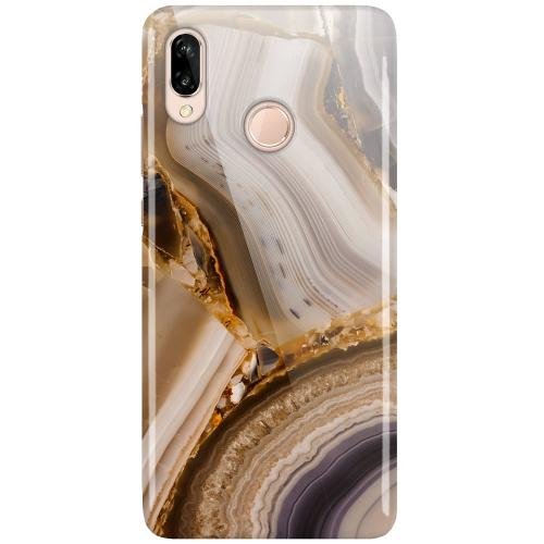 Huawei P20 Lite LUX Mobilskal (Glansig) Amber Agate