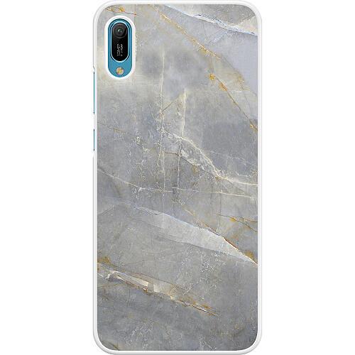 Huawei Y6 (2019) Hard Case (White) Coarse Stone