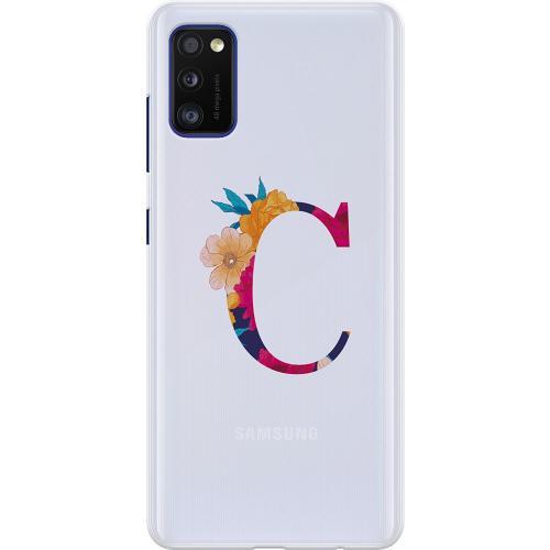 Samsung Galaxy A41 Thin Case Bokstaven - C