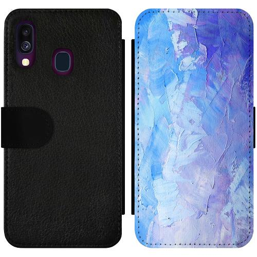 Samsung Galaxy A40 Wallet Slimcase Pristine Pastel Strokes