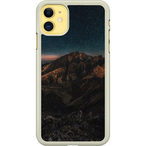 Apple iPhone 11 Hard Case (Transparent) Galaxy Mountaintop