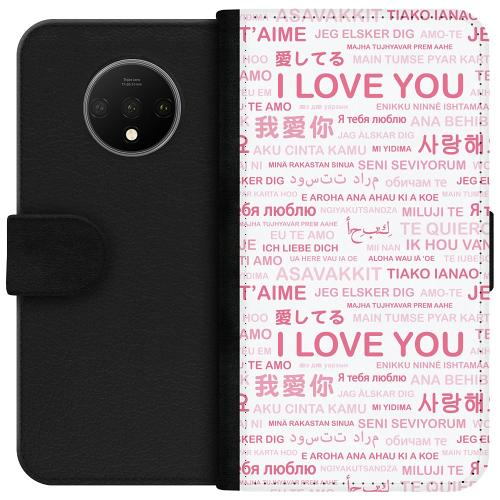 OnePlus 7T Plånboksfodral International Love