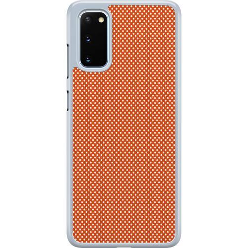Samsung Galaxy S20 Hard Case (Transparent) Orange Droplets