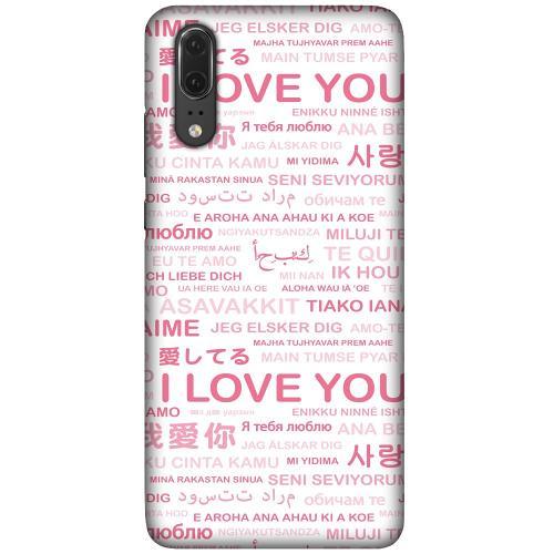 Huawei P20 LUX Mobilskal (Matt) International Love