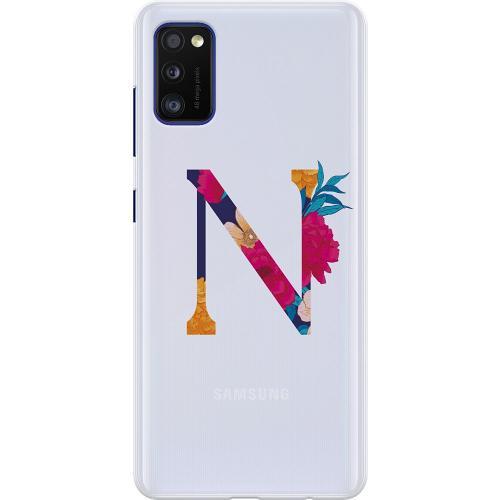 Samsung Galaxy A41 Thin Case Bokstaven - N