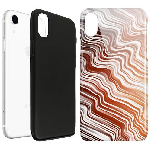Apple iPhone XR LUX Duo Case Distorted Soundwaves