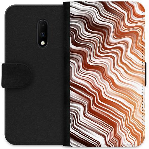 OnePlus 7 Plånboksfodral Distorted Soundwaves