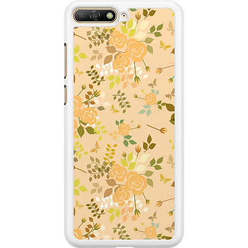 Huawei Y6 (2018) Hard Case (White) Flowery Tapestry