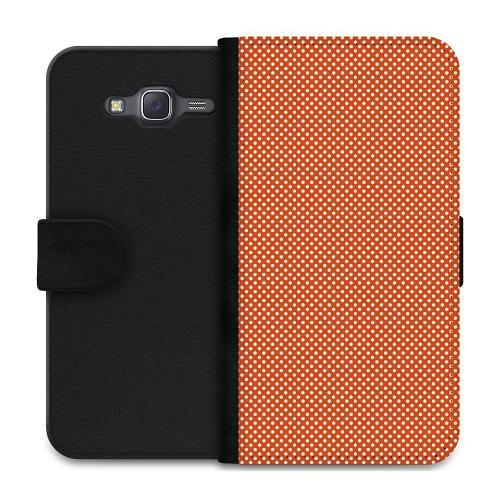 Samsung Galaxy J5 Plånboksfodral Orange Droplets