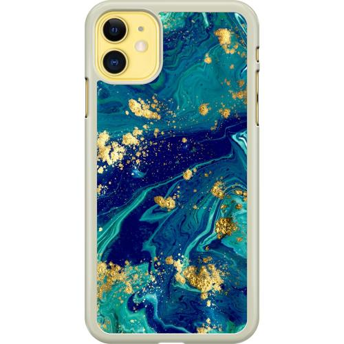 Apple iPhone 11 Hard Case (Transparent) Golden Disarray