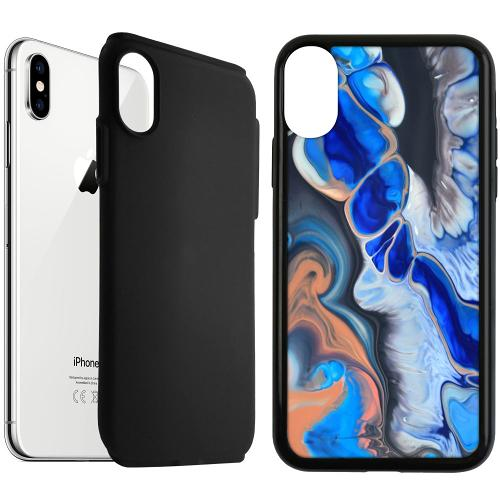 Apple iPhone XS Max Duo Case Svart Pure Bliss