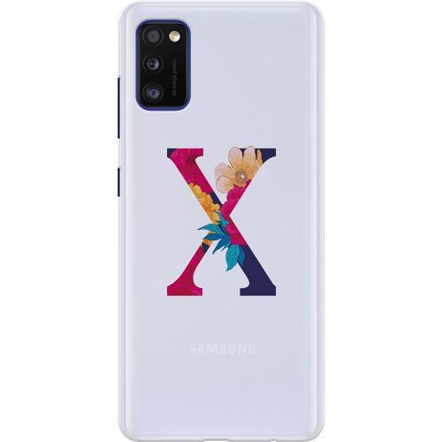 Samsung Galaxy A41 Thin Case Bokstaven - X