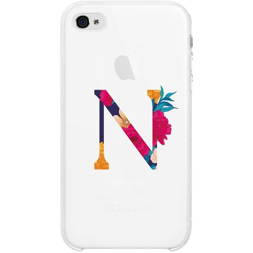 Apple iPhone 4 / 4s Firm Case Bokstaven - N