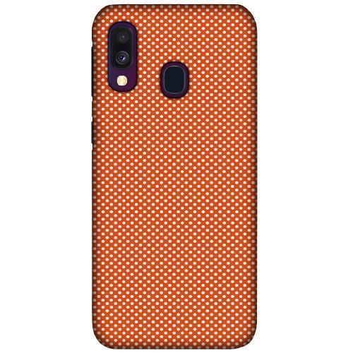 Samsung Galaxy A40 LUX Mobilskal (Matt) Orange Droplets