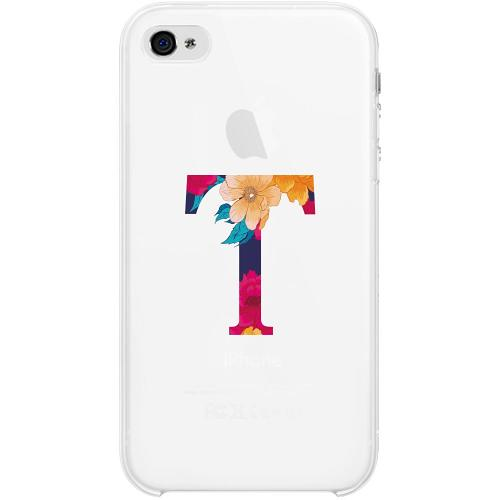 Apple iPhone 4 / 4s Firm Case Bokstaven - T