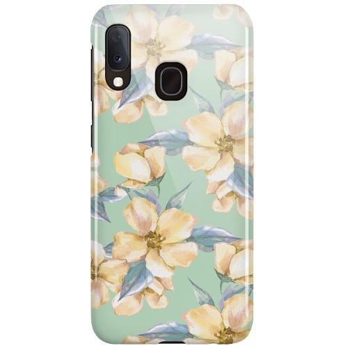 Samsung Galaxy A20e LUX Mobilskal (Glansig) Waterproof Flowers