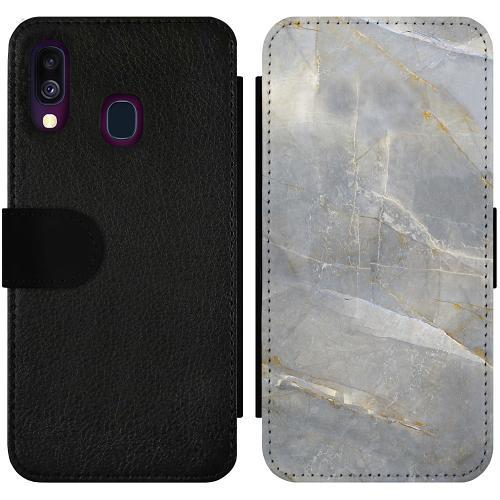 Samsung Galaxy A40 Wallet Slimcase Coarse Stone