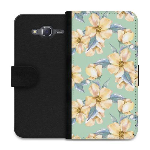 Samsung Galaxy J5 Plånboksfodral Waterproof Flowers