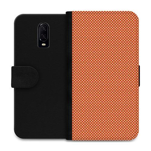 OnePlus 6T Plånboksfodral Orange Droplets
