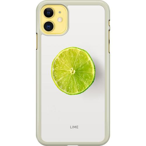 Apple iPhone 11 Hard Case (Transparent) Lime