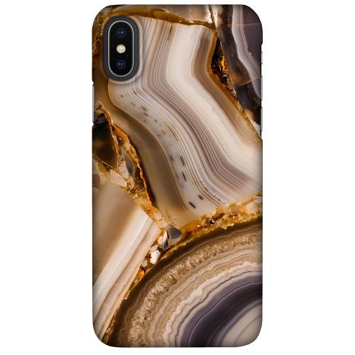 Apple iPhone X / XS LUX Mobilskal (Matt) Amber Agate