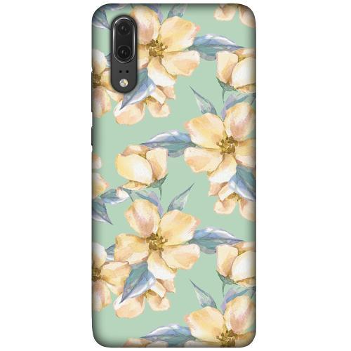 Huawei P20 LUX Mobilskal (Matt) Waterproof Flowers