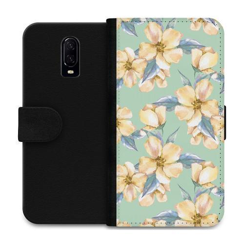OnePlus 6T Plånboksfodral Waterproof Flowers