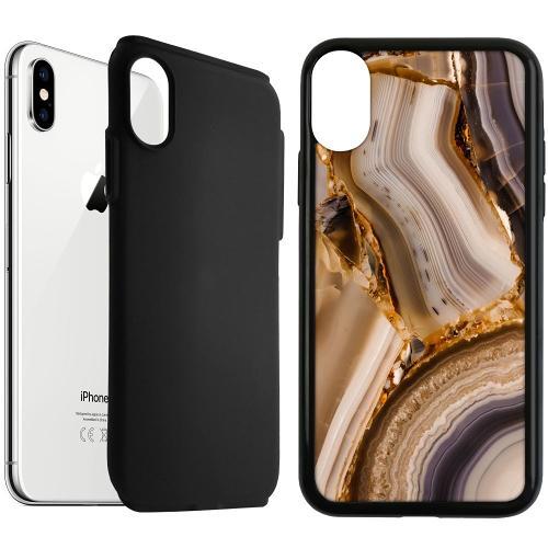 Apple iPhone XS Max Duo Case Svart Amber Agate