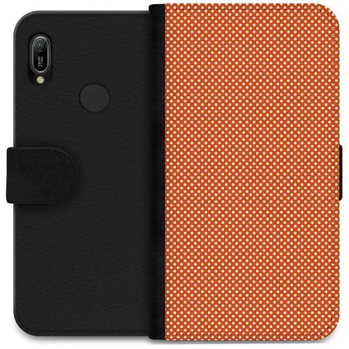 Huawei Y6 (2019) Plånboksfodral Orange Droplets