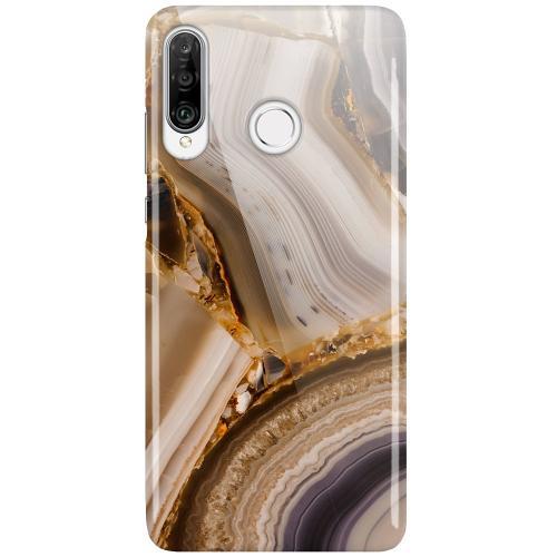 Huawei P30 Lite LUX Mobilskal (Glansig) Amber Agate