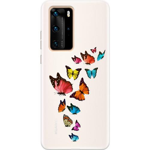 Huawei P40 Pro Thin Case Fjärilar