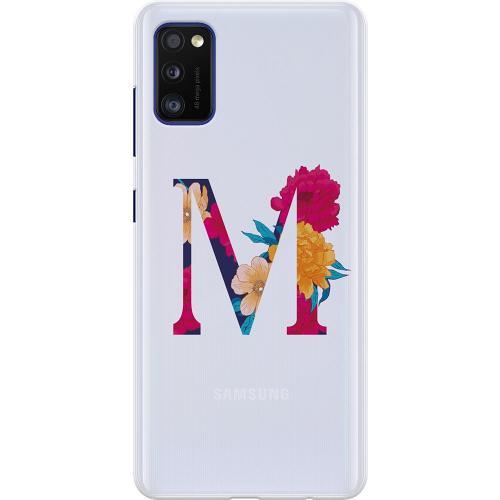 Samsung Galaxy A41 Thin Case Bokstaven - M