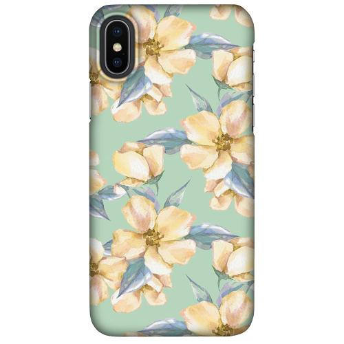 Apple iPhone X / XS LUX Mobilskal (Matt) Waterproof Flowers