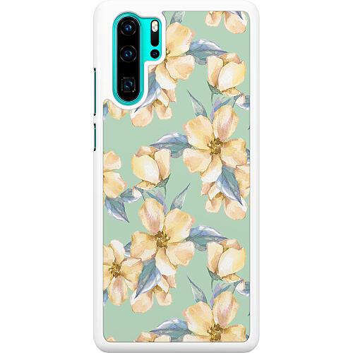 Huawei P30 Pro Hard Case (White) Waterproof Flowers