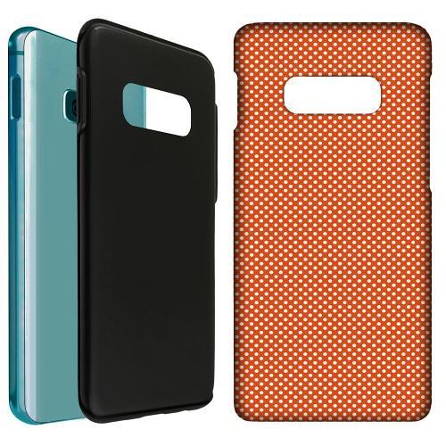 Samsung Galaxy S10e LUX Duo Case Orange Droplets
