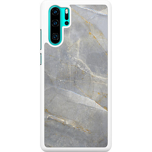 Huawei P30 Pro Hard Case (White) Coarse Stone