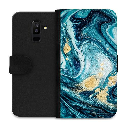 Samsung Galaxy A6 Plus (2018) Plånboksfodral Golden Lavation