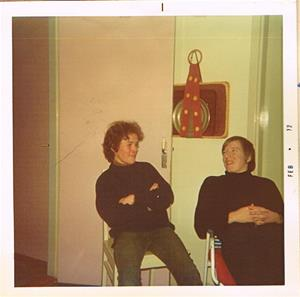 Sivert och Börje i en diskussion 1972