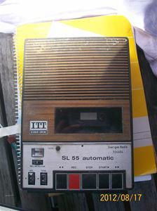 610. ITT Schaub - Lorenz, Cassettebandspelare. Sveriges Radio/Television. Typ: SL 55A Automatic, SK. Nr: 5331 6363. Fotonr: 100_9480
