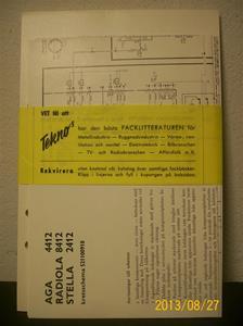 772. Radioteknikerns Handbok, TV-teknik. Supplement år 1965. Pris: 9,15:-. Förf: James Hellström Civilingenjör. Innehåll se pärm.  101_0437