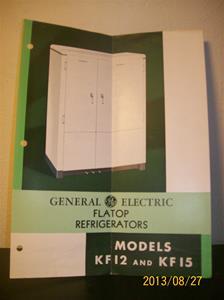 780. General Electric, Flatop Refrigerator. No. KF-210. Tillv. år 1935 i USA.  101_0458