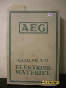 790. Såld. AEG katalog nr 35, elektrisk material. Nummer: 418565. Tillv: 1934 i Stockholm.  101_0479