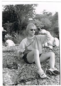 Tonny, grillning vid Näsudden, ca 1990.