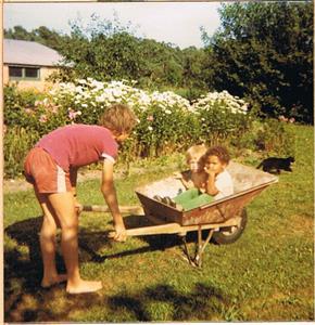 Åsa, Theres och jag. 1970-72 nån gång