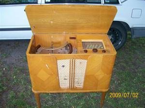 289. Skantic, radiogrammofon. Typ: S 95 V. Nr: 217499. Fotonr: 100_3574
